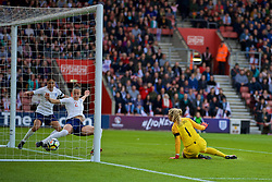 SOUTHAMPTON, ENGLAND - Friday, April 6, 2018: England's Lucia Bronze clears a ball tgat looks suspiciously behind the line during the FIFA Women's World Cup 2019 Qualifying Round Group 1 match between England and Wales at St. Mary's Stadium. (Pic by David Rawcliffe/Propaganda)