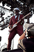 Rhythm guitarist and vocalist Lynval Golding of The Specials performs on the main stage at the 2010 Coachella Music Festival in Indio, CA on Friday, April 16, 2010.