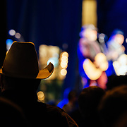 Robert Earl Keen performs to a packed crowd in Jackson, Wyoming. The crowd reacting to the concert performance.
