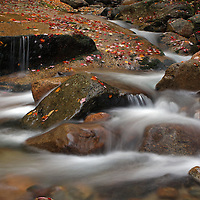 Scenic nature photography images of this picturesque New England fall foliage and cascade long exposure photography scenery at Fume Brook from the Franconia Notch State Park in the White Mountains region of New Hampshire are available as museum quality photography prints, canvas prints, acrylic prints or metal prints. Prints may be framed and matted to the individual liking and decorating needs:<br /> <br /> http://juergen-roth.artistwebsites.com/featured/flume-brook-juergen-roth.html<br /> <br /> Silky water tumbling down Flume Brook at Franconia Notch State Park near Lincoln in New Hampshire displaying beautiful autumn scenery during New England fall foliage. Table Rock is a small section of Conway granite in this New Hampshire State Park that was exposed and outcropped of hundreds of years. This scenic New Hampshire cascading water section is 500 feet long and 75 feet wide.<br /> <br /> Good light and happy photo making! <br /> <br /> Juergen <br /> Prints: www.RothGalleries.com <br /> Licensing: www.ExploringTheLight.com <br /> Photo Blog: http://whereintheworldisjuergen.blogspot.com <br /> @NatureFineArt