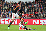 Chris Smalling of Manchester United shoots at goal during the Champions League Group B match between PSV Eindhoven and Manchester United at Philips Stadion, Eindhoven, Netherlands on 15 September 2015. Photo by Phil Duncan.