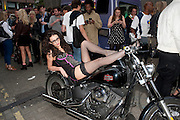 HARLEY DAVIDSON, Dirty Pretty Things - summer party. Lingerie line hosts  party celebrating its new online shop and showcasing the latest collection. The Lingerie Collective, 8 Ganton Street, Soho. London, 15 June 2011<br /> <br />  , -DO NOT ARCHIVE-© Copyright Photograph by Dafydd Jones. 248 Clapham Rd. London SW9 0PZ. Tel 0207 820 0771. www.dafjones.com.