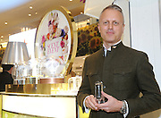 Perfumer Pascal Gaurin, of International Flavors & Fragrances, discusses his new scents for spring at the 2016 Macy's Flower Show Scent event at Herald Square, Monday, March 21, 2016, in New York.  (Diane Bondareff/AP Images for Macy's Inc.)