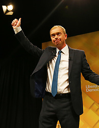 Liberal Democrat Leader Tim Farron delivers his keynote speech on the final day of the Liberal Democrats Autumn Conference in Brighton.