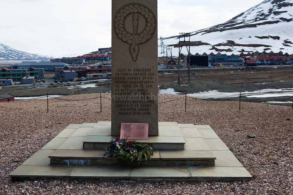 World War II victims memorial, Longyearbyen, Svalbard. The northernmost settlement with more than 1,000 people on earth, and is quite well-serviced town, with an airport and university and hospital.