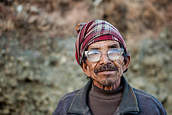 Portrait of a Nepalese man in Jumla District, Nepal, Asia