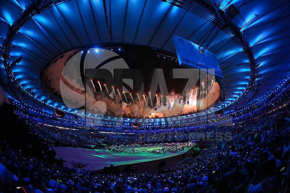 RIO DE JANEIRO, RJ, 05.08.2016 - RIO-2016 - durante cerimonia de abertura dos jogos olímpicos Rio 2016 no estádio do Maracanã no Rio de Janeiro neste sábado, 05. (Foto: William Volcov/Brazil Photo Press)