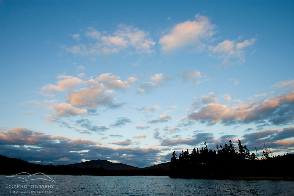 Late afternoon sky about East Inlet in Pittsburg, New Hampshire.