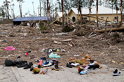 Massive amount of debris including personal items left by a more than 8 feet high water surge in Chippinghill Dr. at Fortune Bay neighborhood in Freeport, Grand Bahamas, as Hurricane Dorian devastates the Bahamas, on Friday, September 06, 2019. Photo by Pedro Portal/Miami Herald/TNS/ABACAPRESS.COM