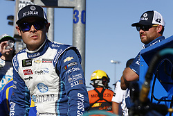 September 14, 2018 - Las Vegas, Nevada, United States of America - Kyle Larson (42) hangs out on pit road before qualifying for the South Point 400 at Las Vegas Motor Speedway in Las Vegas, Nevada. (Credit Image: © Chris Owens Asp Inc/ASP via ZUMA Wire)