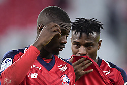 March 15, 2019 - Lille, France, FRANCE - Deception des joueurs du Losc.Nicolas Pepe (Losc) / Youssouf Kone  (Credit Image: © Panoramic via ZUMA Press)