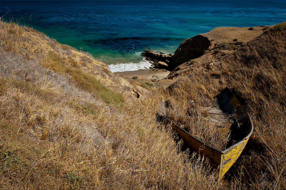 A derelict boat gone the way of history out on Santa Rosa Island, California, on Aug. 5, 2012 (Photo by Aaron Schmidt © 2012)