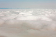 Above the cover of low clouds