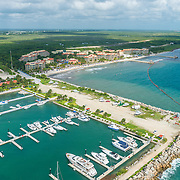 Aerial view of the Marina El Cid. Riviera Maya. Mexico