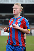 Highly sought after Steph Mann during the FA Women's Premier League match between Crystal Palace LFC and Bedford Ladies at Bromley Football Club, Bromley, Kent, United Kingdom on 15 March 2015. Photo by Michael Hulf.