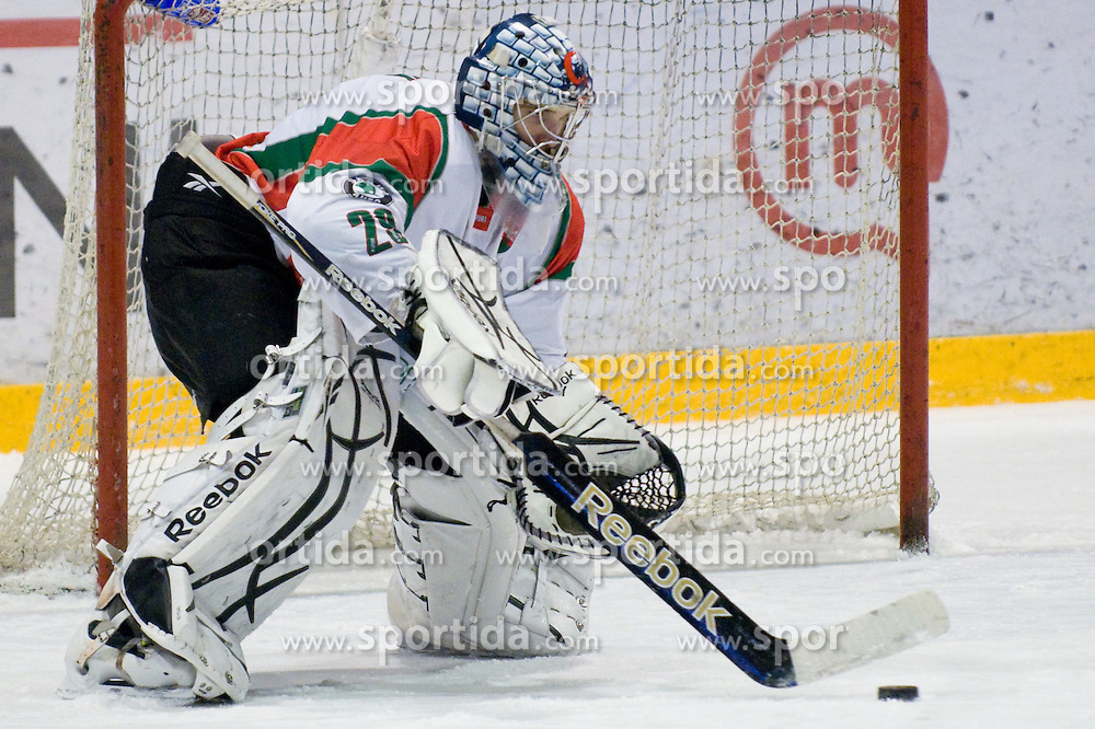Zoltan Hetenyi of Hungary (#29) during ice-hockey match between Hungary and Slovenia in European Ice Hockey Challenge, on December 16, 2010 at Podmezaklja hall, Ljubljana, Slovenia. (Photo By Matic Klansek Velej / Sportida.com)