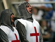 English fans sing the national anthem. England v Samoa, Nantes, France, Rugby World Cup 2007, 22nd September 2007.