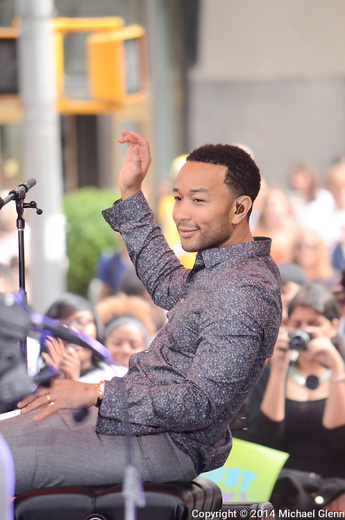 New York City, New York - July 10: John Legend performing at The summer concert series at The TODAY show on July 10, 2014 in New York, New York.