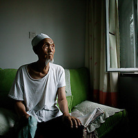 SHIHEZI,JULY-16 :Ma Xiangwu, 94, a former soldier in the defeated Nationalist Army, was one of the earliest settlers in Shihezi, arriving in 1951.<br /> <br /> ( see: http://www.nytimes.com/2009/08/07/world/asia/07xinjiang.html?_r=1&amp;scp=10&amp;sq=andrew%20jacobs&amp;st=cse