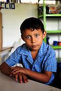 Images of students, staff and building of the Nueva Esperanza Community School,.Nueva Esperanza, Bajo Lempa,.El Salvador.28.4.11.