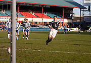 Matt Lockwood fires in a penalty which was saved by Kilmarnock keeper Cameron Bell - Dundee v Kilmarnock, William Hill Scottish FA Cup 4th Round,..- © David Young - .5 Foundry Place - .Monifieth - .DD5 4BB - .Telephone 07765 252616 - .email; davidyoungphoto@gmail.com - .web; www.davidyoungphoto.co.uk.