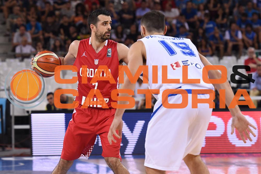 DESCRIZIONE: Torino FIBA Olympic Qualifying Tournament GREECE GRECIA-CROATIA CROAZIA<br /> GIOCATORE: Simon Krunoslav<br /> CATEGORIA: Nazionale Italiana Italia Maschile Senior<br /> GARA: FIBA Olympic Qualifying GREECE GRECIA-CROATIA CROAZIA<br /> DATA: 08/07/2016<br /> AUTORE: Agenzia Ciamillo-Castoria