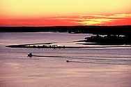 Southhold Bay from Shelter Island, New York, Sunset