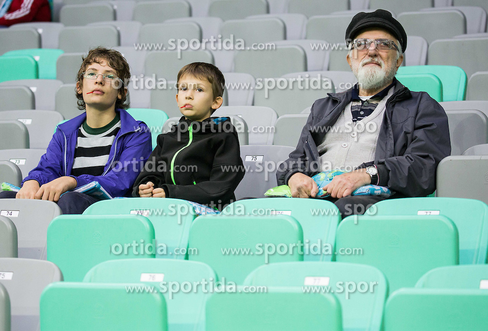 Fans watching practice session of Slovenian National Football team two days before Euro 2016 Qualifying game between Slovenia and Lithuania, on October 7, 2015 in SRC Stozice, Ljubljana Slovenia. Photo by Vid Ponikvar / Sportida