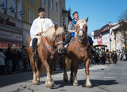02.04.2018, Traunstein, GER, Georgi Ritt Traunstein 2018, im Bild Pfarrer ( Geistlicher ) // during the traditionell Georgi Ritt on Easter Monday in. in Traunstein, Germany on 2018/04/02. EXPA Pictures © 2018, PhotoCredit: EXPA/ Erst Wukits