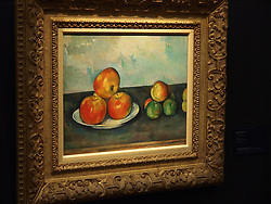 File Photo - Paul C&eacute;zanne&rsquo;s Les pommes from 1889-90,  topped the auction with $41,605,000 (est. $25/35 million), 8 May, 2013. <br />