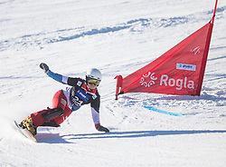 Mueller Stefanie during the women's Snowboard giant slalom of the FIS Snowboard World Cup 2017/18 in Rogla, Slovenia, on January 21, 2018. Photo by Urban Meglic / Sportida