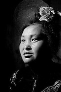 Kaili, Guizhou, China, August 10th 2007: Portrait of a 30 year old Miao woman..Photo: Joseph Feil