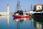 Lighthouse at the Venetian era harbour, Chania, Crete, Greece