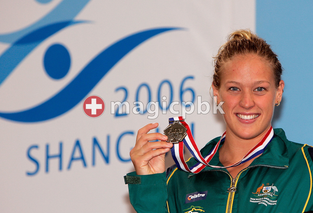 Tayliah ZIMMER of Australia wins the silver medal in the women's 50m Backstroke final during day five of the 8th FINA World Swimming Championships (25m) held at Qi Zhong Stadium April 9th, 2006 in Shanghai, China. (Photo by Patrick B. Kraemer / MAGICPBK)