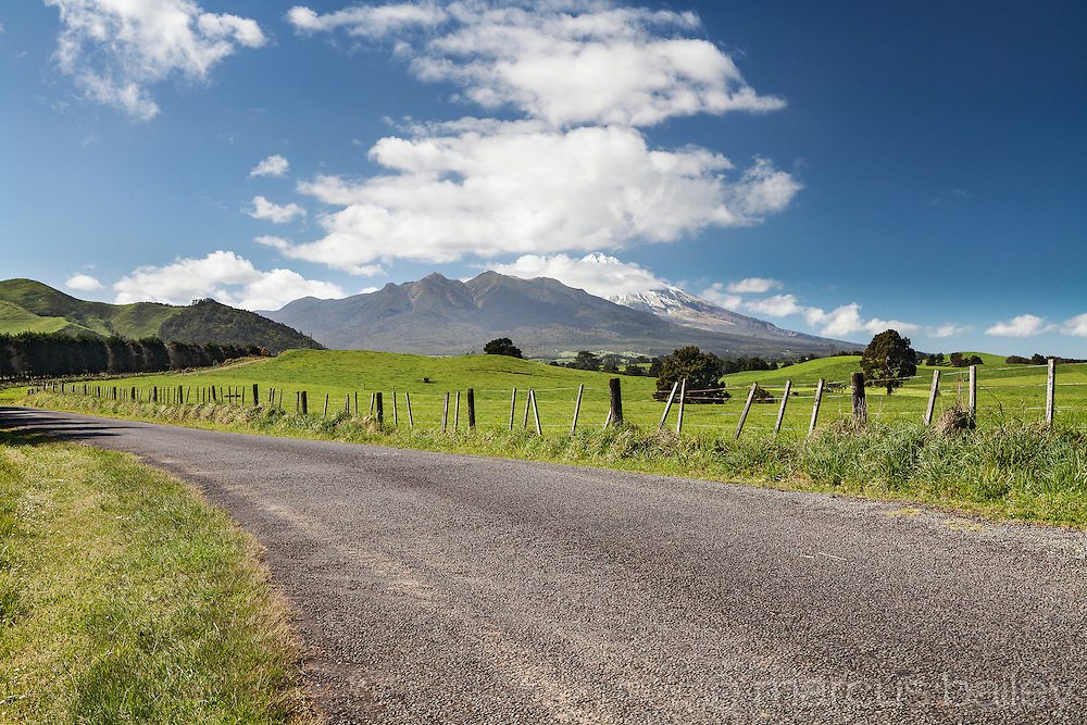 Back road near Mt Taranaki, Taranaki, New Zealand