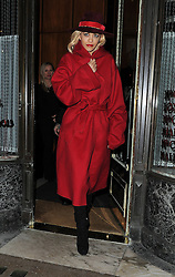 Singer Rita Ora and boyfriend Ricky Hilfiger enjoy dinner at Mr Chow restaurant in Knightsbridge, London, UK. 11/11/2014<br />BYLINE MUST READ : GOTCHAIMAGES.COM<br /><br />Copyright by © Gotcha Images Ltd. All rights reserved.<br />Usage of this image is conditional upon the acceptance <br />of Gotcha Images Ltd, terms and conditions available at<br />www.gotchaimages.com