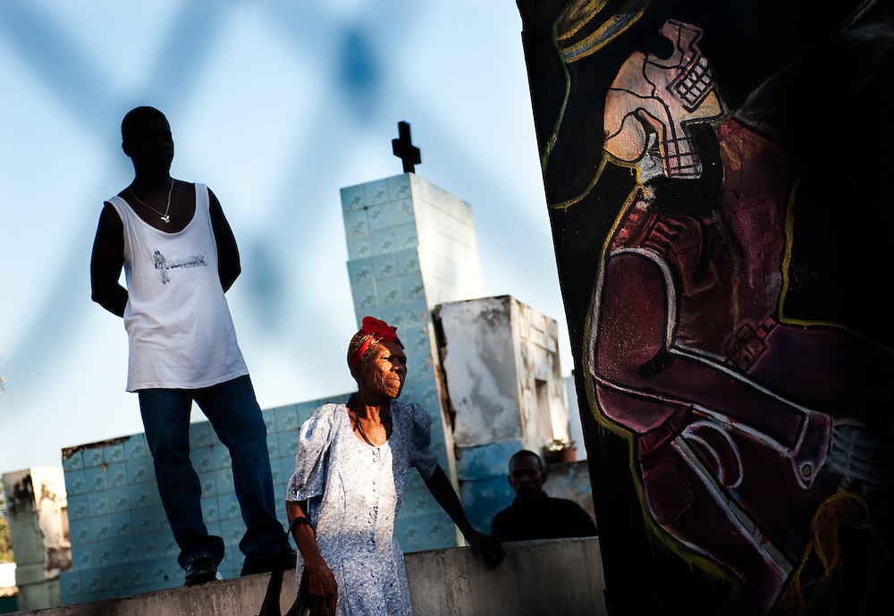 In the cemetery of  Port au Prince, people celebrate All Saints Day