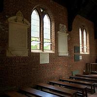 Interior of the Jamestown Memorial Church at Historic Jamestowne.