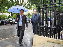 © Licensed to London News Pictures. London, UK. Foreign Office Minister MARK FIELD pictured arriving at a launch event for Jeremy Hunt's Conservative party Leadership campaign in Westminster, London on June 10, 2019. Field has been suspended from his ministerial role after he forcibly removed a Greenpeace protestor from an event hosted by the Chancellor, Philip Hammond, last night.. Photo credit: Ben Cawthra/LNP