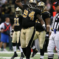 2007 October, 21: New Orleans Saints defensive end Charles Grant (94) pumps up the crowd during a 22-16 win by the New Orleans Saints over the Atlanta Falcons at the Louisiana Superdome in New Orleans, LA.