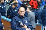 Simon Grayson during the Sky Bet Championship match between Blackburn Rovers and Preston North End at Ewood Park, Blackburn, England on 2 April 2016. Photo by Pete Burns.