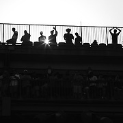 The crowd overlooking the Grandstand, US Open 2015. Third Round. D. Young d. V Troicki 4-6, 0-6, 7-6 (3), 6-2, 6-4