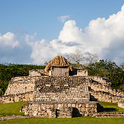 Images of the ruins of the old Maya city of Mayapan in the state of Yucatan, near the city of Merida in Mexico. Mayapan was the last big Mayan city, develop after the fall of Chichenitza.