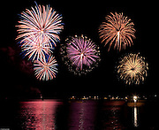 """Jul 4, 2009: Fireworks composite of the 20th Anniversary of """"Set the Night to Music"""" in Lake Placid, N.Y. (Photo/Todd Bissonette - www.rtbphoto.com)"""