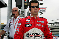 Sam Hornish Jr. and Roger Penske at the Phoenix International Raceway, XM Satellite Radio Indy 200, March 19, 2005