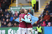 Jay Rodriguez of Burnley celebrates his goal during the The FA Cup match between Burnley and Peterborough United at Turf Moor, Burnley, England on 4 January 2020.