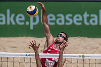 BILDET INNGÅR IKKE I FASTAVTALER. ALL NEDLASTING BLIR FAKTURERT.<br /> <br /> Sandvolleyball<br /> Foto: imago/Digitalsport<br /> NORWAY ONLY<br /> <br /> FIVB Beach volleyball Beachvolleyball World Tour 2016 - Olsztyn Grand Slam; 16.06.2016 Øivind Hordvik (NOR); FIVB Beach Volleyball World Tour 2016 - Olsztyn Grand Slam am 16.06.2016, Olsztyn, Polen