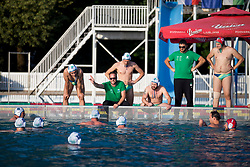 Team VKL Ljubljana Slovan during water polo match between VKL Ljubljana Slovan and AVK Triglav Kranj in 3rd Round of Final of Slovenian Water polo National Championship, on June 16, 2018 in Kodeljevo, Ljubljana, Slovenia. Photo by Urban Urbanc / Sportida