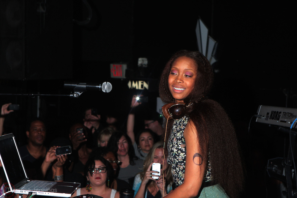 24 June-New York, NY- Erykah Badu aka DJ Lo Down Loretta Brown spins at the 1st Annual Black Girl Rock! & Soul Tour Celebrating Dynamic Woman in Music - LA Jam Session Presented by GM and held at the Roxy on June 24, 2011 in Los Angeles, California . Photo Credit: Terrence Jennings