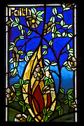 Faith, Stain Glass Window, New Zealand<br /> <br /> NOT FOR SALE, as this is merely a full-frame photograph of another's artwork